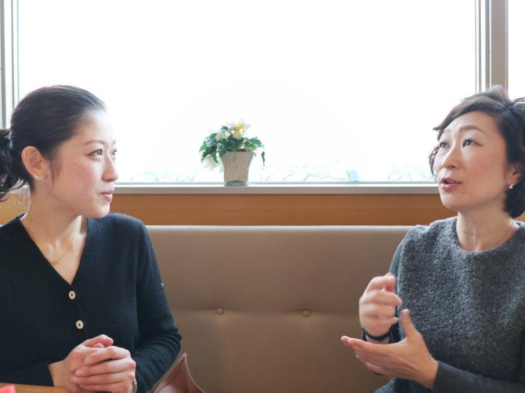 Lisa's Cake Market代表の栗山莉沙と株式会社ペディキュール代表西谷裕子の対談